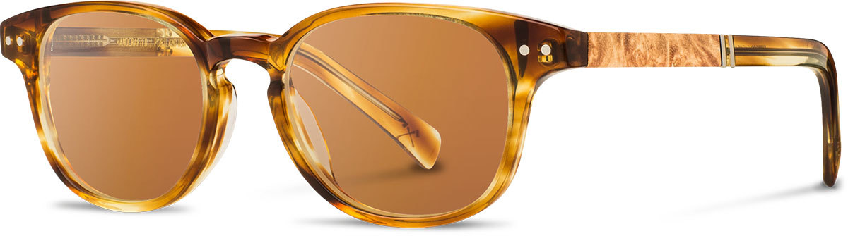 Shwood acetate wood prescription glasses quimby honey maple burl brown polarized left s 2200x800