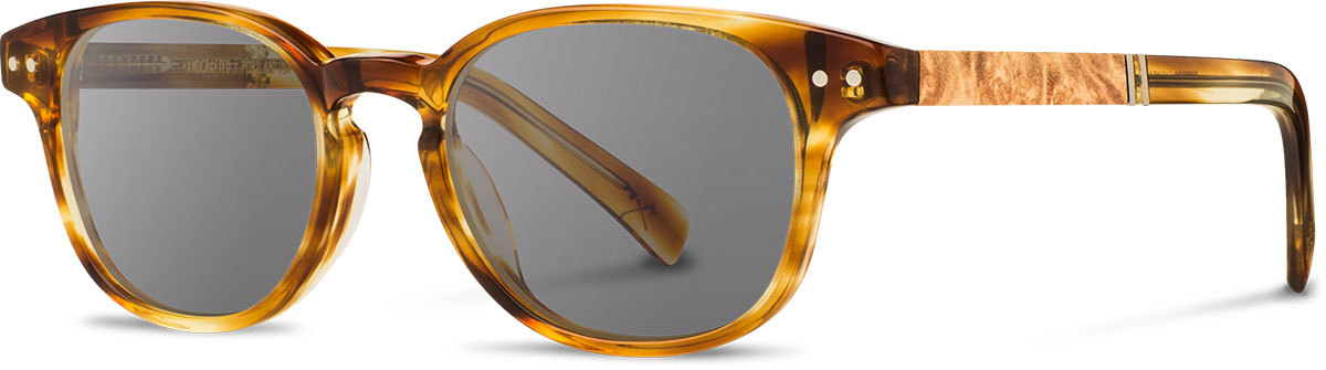 Shwood acetate wood prescription glasses quimby honey maple burl grey polarized left s 2200x800