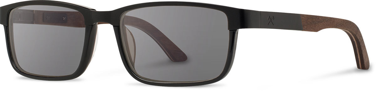 Shwood titanium wood acetate rx glasses fifty fifty fremont black walnut black grey polarized left s 2200x800