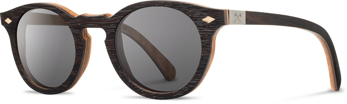 Shwood wooden sunglasses select florence ebony quilted maple grey polarized left s 2200x800