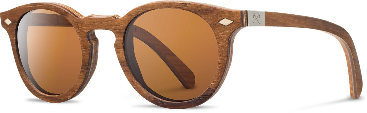 Shwood wooden sunglasses select florence teak oak brown polarized left s 2200x800