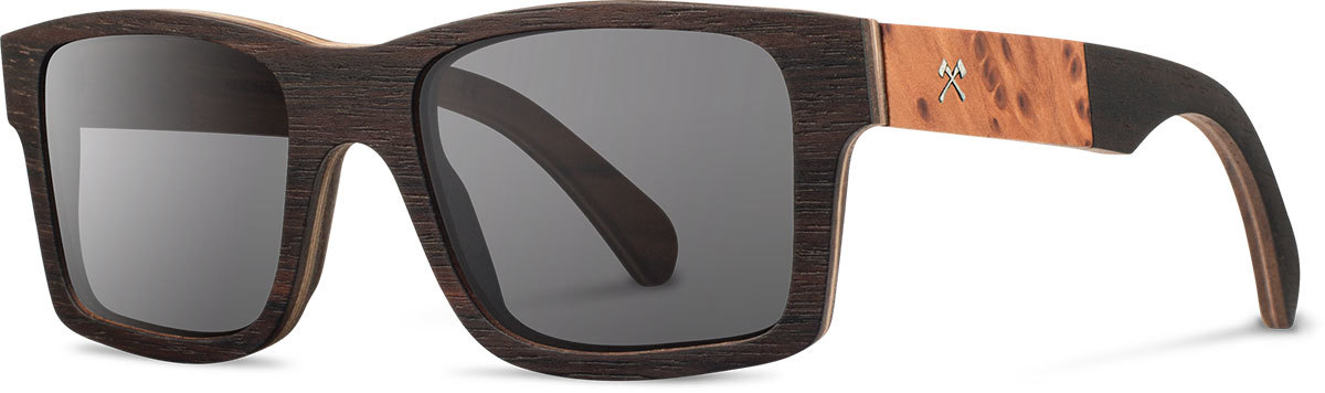 Shwood wooden sunglasses select haystack ebony redwood burl grey polarized left s 2200x800
