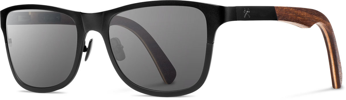 Shwood titanium wood sunglasses fifty fifty canby black walnut grey left s 2200x800