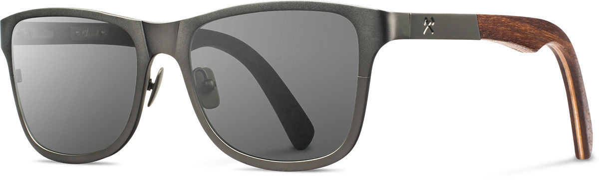 Shwood titanium wood sunglasses fifty fifty canby gunmetal walnut grey left s 2200x800