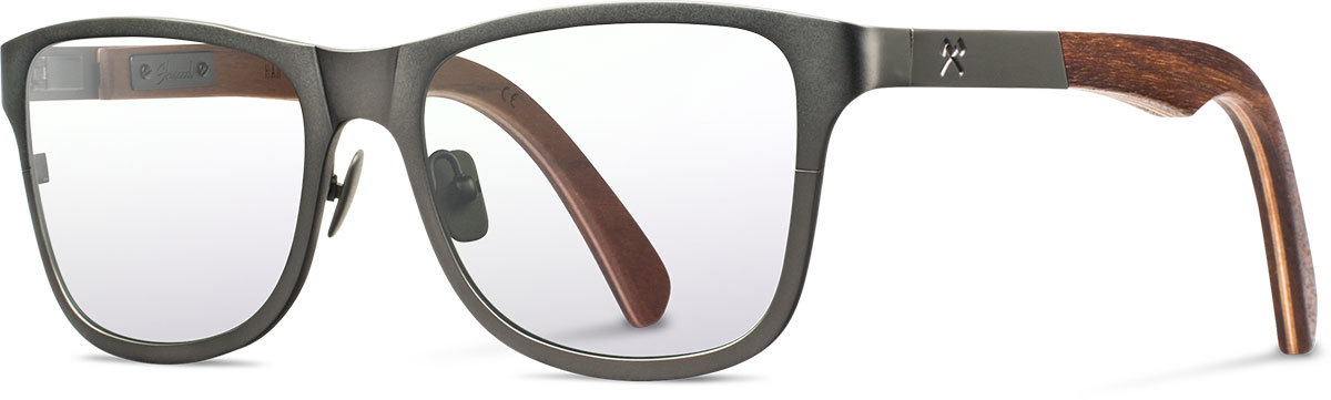 Shwood titanium wood rx glasses fifty fifty canby gunmetal walnut left s 2200x800