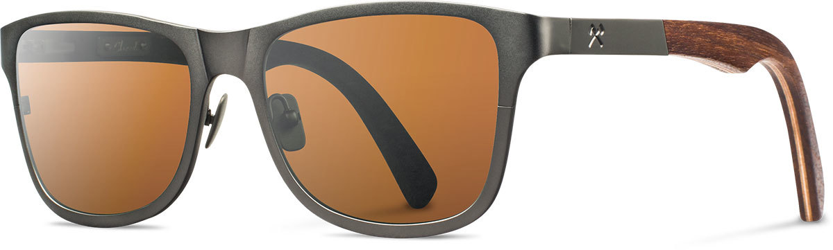 Shwood titanium wood rx glasses fifty fifty canby gunmetal walnut brown polarized left s 2200x800