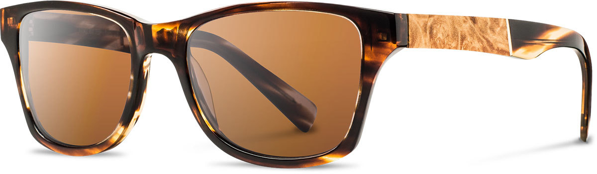 Shwood acetate wood prescription glasses fifty fifty canby tortoise maple burl brown polarized left s 2200x800