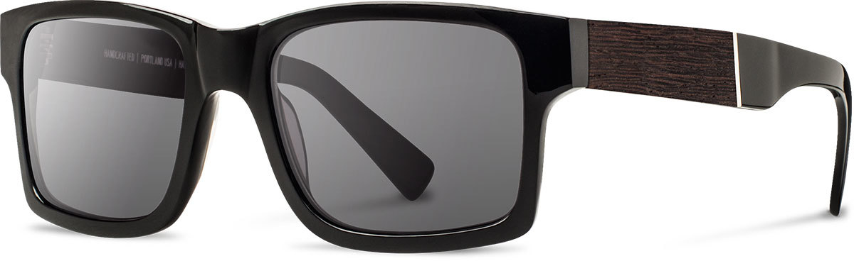 Shwood acetate wood sunglasses fifty fifty haystack black ebony grey left s 2200x800