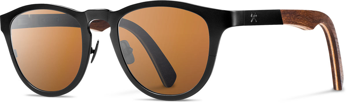 Shwood titanium wood rx glasses fifty fifty francis black walnut brown polarized left s 2200x800
