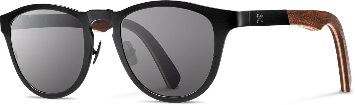 Shwood titanium wood rx glasses fifty fifty francis black walnut grey polarized left s 2200x800