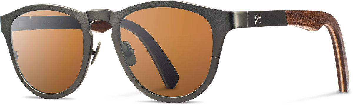 Shwood titanium wood rx glasses fifty fifty francis gunmetal walnut brown polarized left s 2200x800