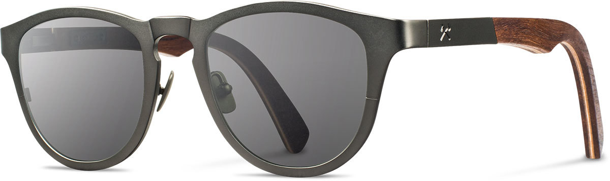 Shwood titanium wood rx glasses fifty fifty francis gunmetal walnut grey polarized left s 2200x800