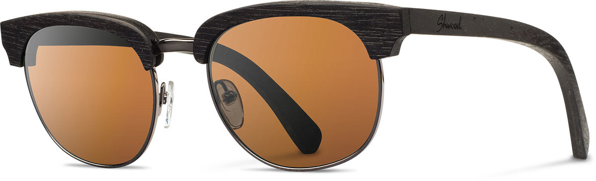 Shwood wood prescription glasses original eugene dark walnut silver brown polarized left s 2200x800