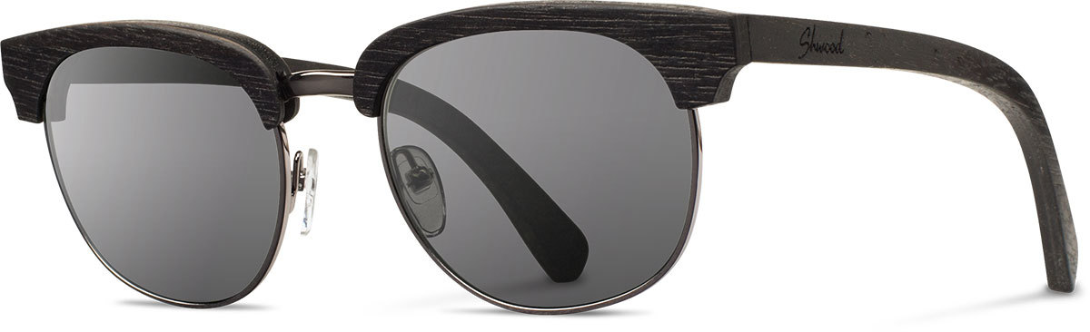 Shwood wood prescription glasses original eugene dark walnut silver grey polarized left s 2200x800