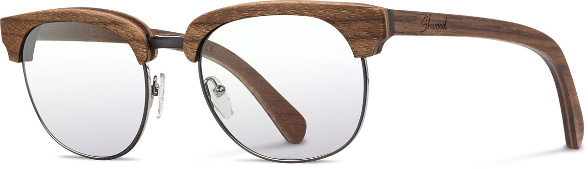 Shwood wood prescription glasses original eugene walnut silver left s 2200x800