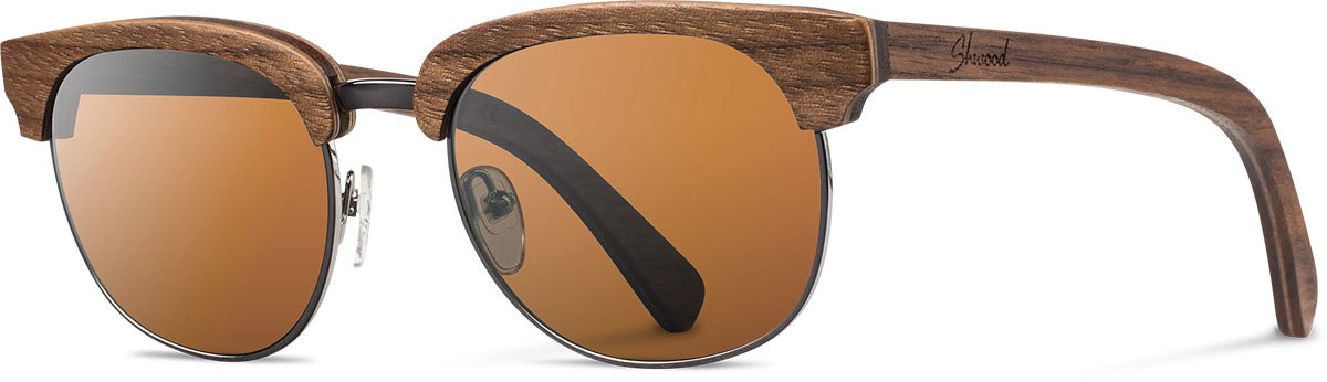 Shwood wood prescription glasses original eugene walnut silver brown polarized left s 2200x800