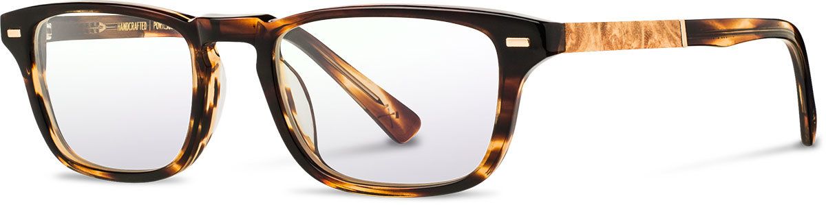 Shwood acetate wood prescription glasses astoria tortoise maple burl left s 2200x800