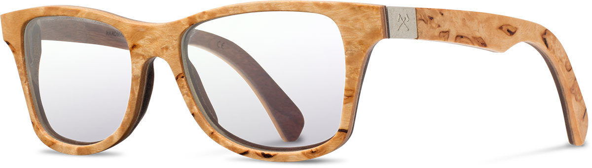 Shwood wood prescription glasses select canby karrelian burl walnut left s 2200x800