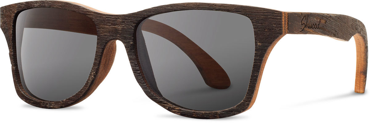 Shwood wood sunglasses canby bushmills whiskey barrel grey left s 2200x800