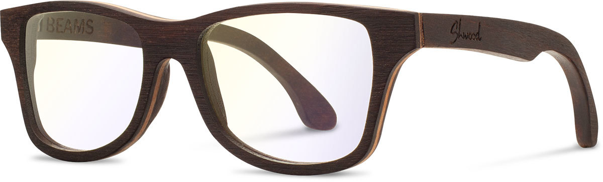 Shwood wood sunglasses canby beams east indian rosewood clear left s 2200x800