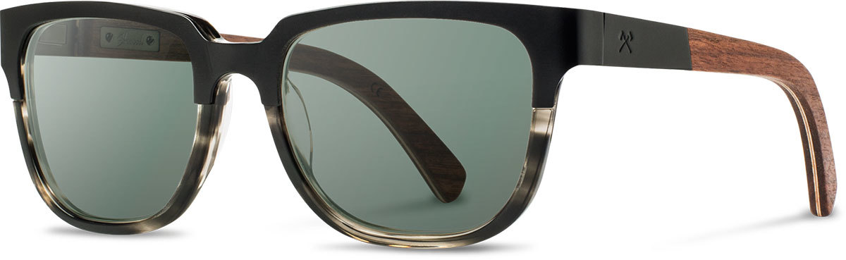 Shwood titanium acetate wood sunglasses fifty fifty prescott black pearl grey walnut g15 polarized left s 2200x800
