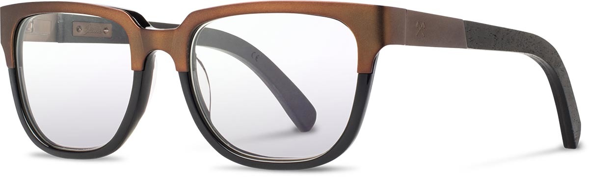 Shwood titanium wood acetate prescription glasses fifty fifty prescott antique bronze dark walnut black left s 2200x800