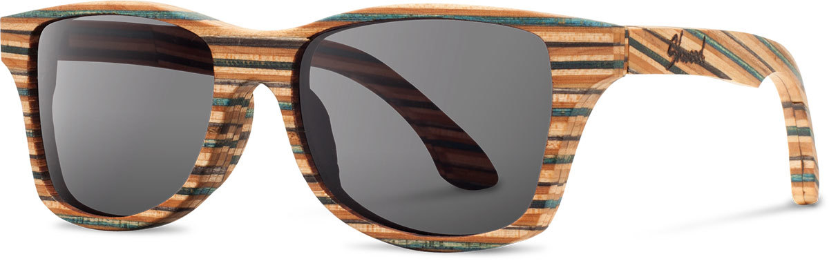 Shwood wood sunglasses canby huf skateboard shades grey left s 2200x800