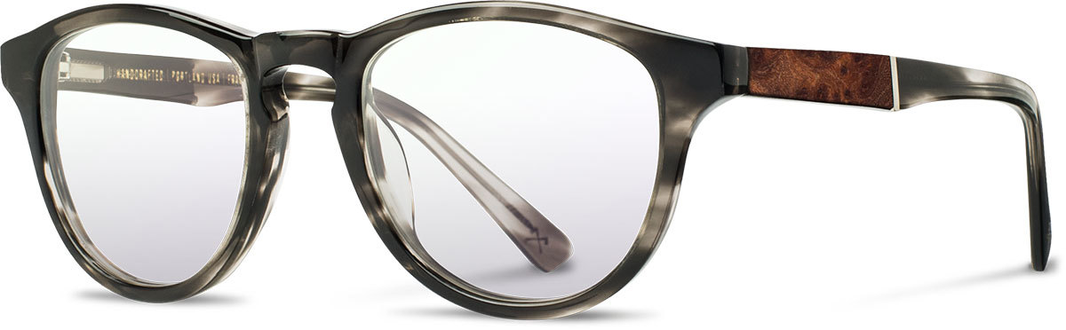 Shwood acetate wood prescription glasses fifty fifty francis pearl grey elm burl left s 2200x800