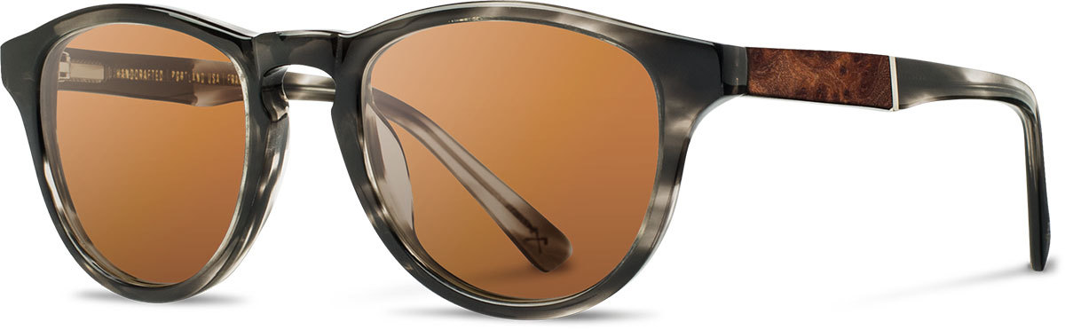 Shwood acetate wood prescription glasses fifty fifty francis pearl grey elm burl brown polarized left s 2200x800