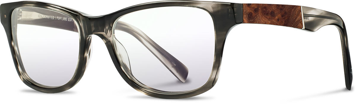 Shwood acetate wood prescription glasses fifty fifty canby pearl grey elm burl left s 2200x800