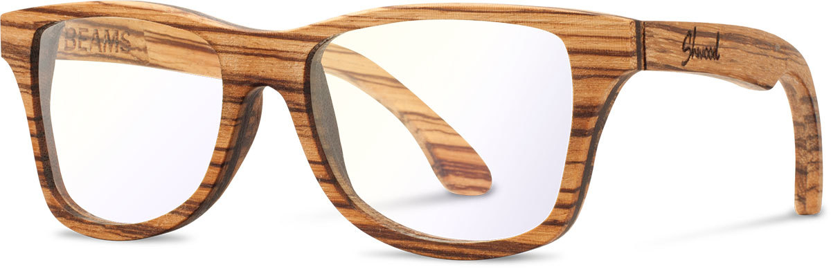 Shwood wood sunglasses canby beams zebrawood clear left s 2200x800