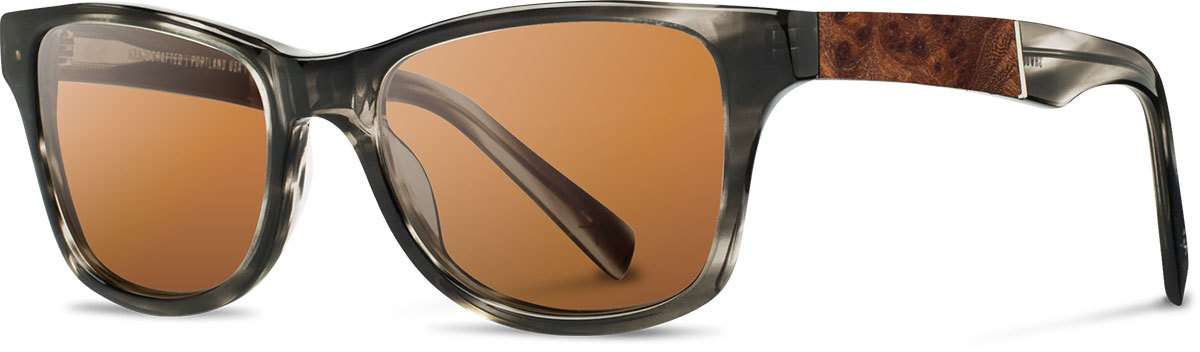 Shwood acetate wood prescription glasses fifty fifty canby pearl grey elm burl brown polarized left s 2200x800