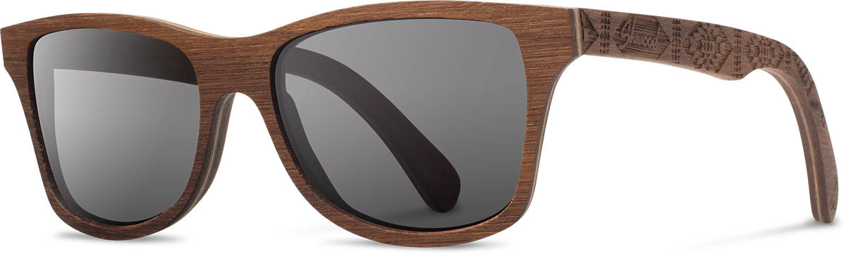 Shwood wood sunglasses canby pendleton walnut basket maker grey polarized left s 2200x800