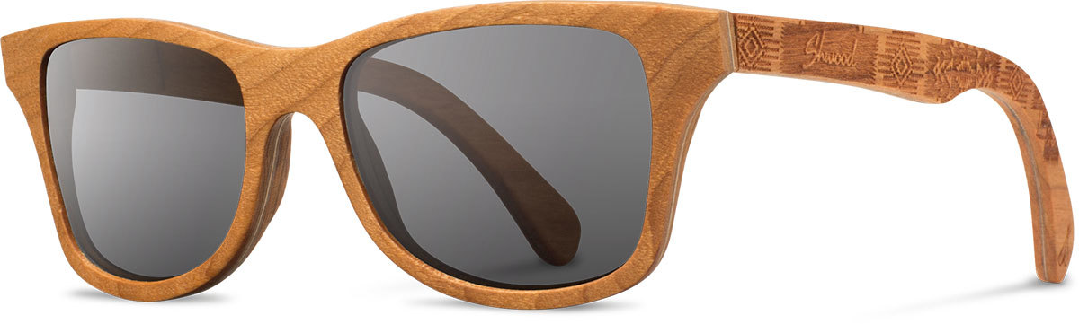 Shwood wood sunglasses canby pendleton cherry chief joseph grey polarized left s 2200x800