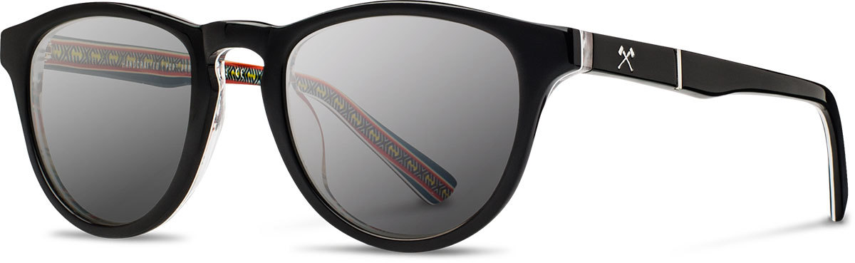 Shwood acetate sunglasses limited pendleton francis serape grey polarized left s 2200x800