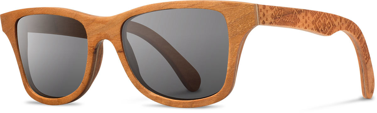 Shwood wood sunglasses canby pendleton cherry journey west grey polarized left s 2200x800