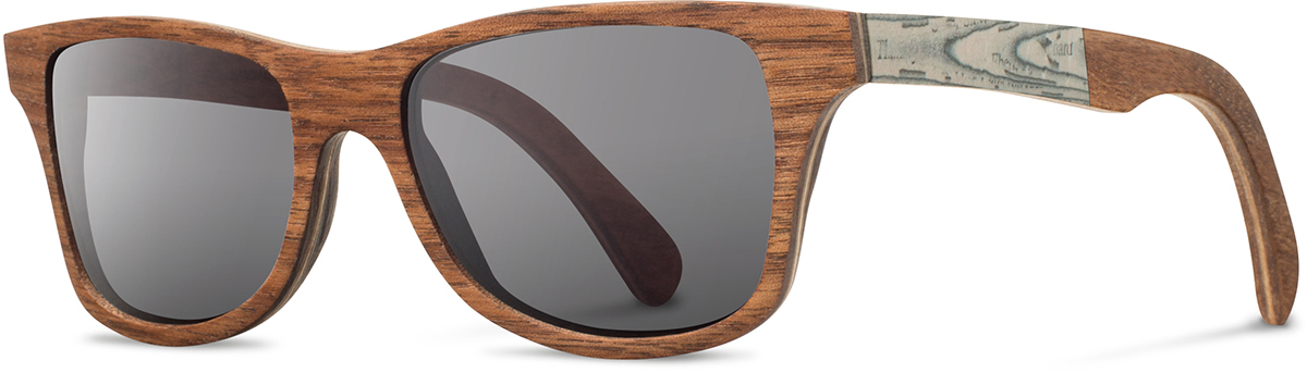 Shwood wood newspaper prescription glasses limited canby walnut paper grey polarized left s 2200x800