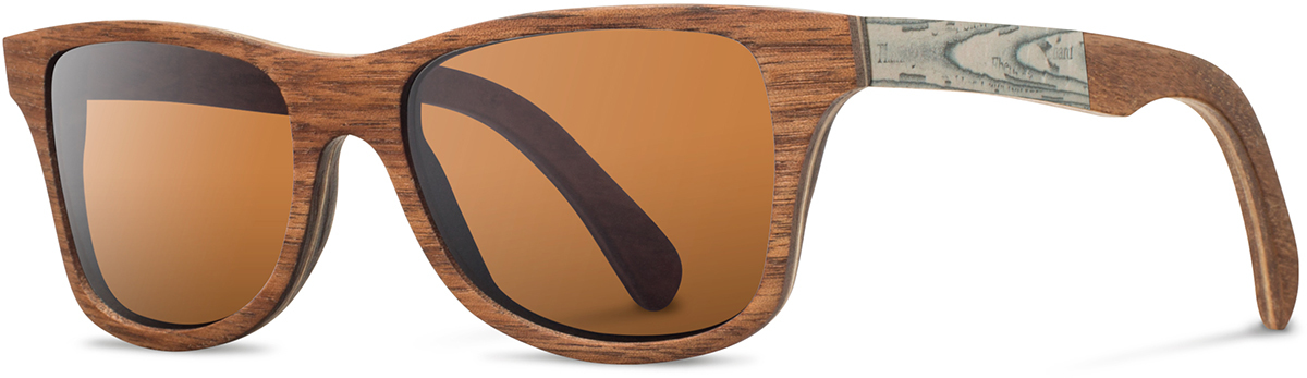 Shwood wood newspaper prescription glasses limited canby walnut paper brown polarized left s 2200x800