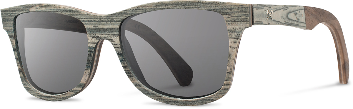 Shwood wood newspaper sunglasses select canby paper walnut grey polarized left s 2200x800