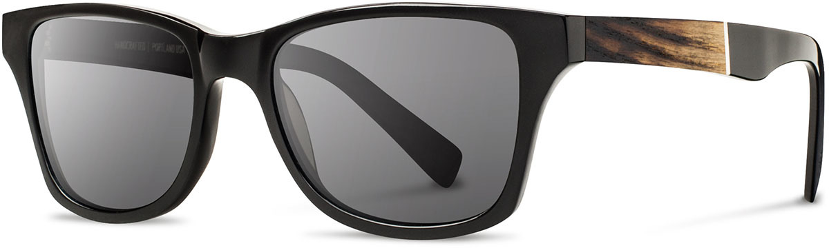 Shwood acetate wood sunglasses canby limited slugger 2 fifty fifty black ash grey polarized left s 2200x800