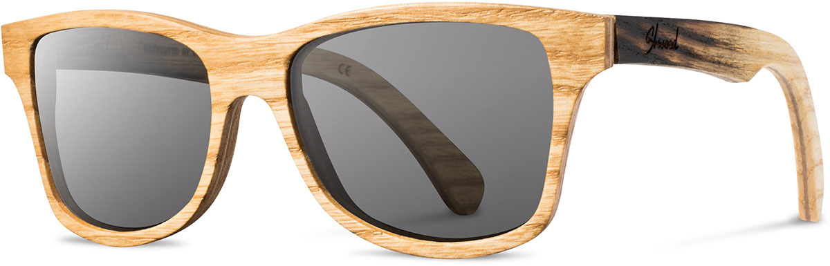 Shwood wood sunglasses canby limited slugger 2 original ash grey polarized left s 2200x800