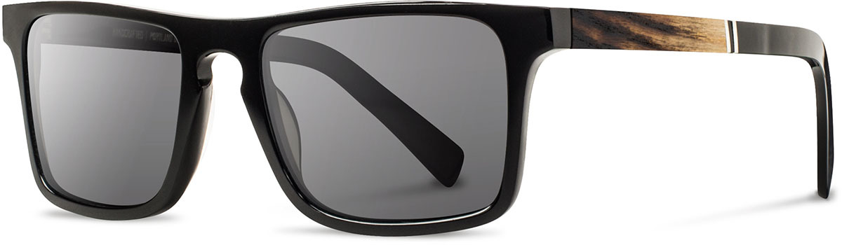 Shwood acetate wood sunglasses govy 2 limited slugger 2 fifty fifty black ash grey polarized left s 2200x800
