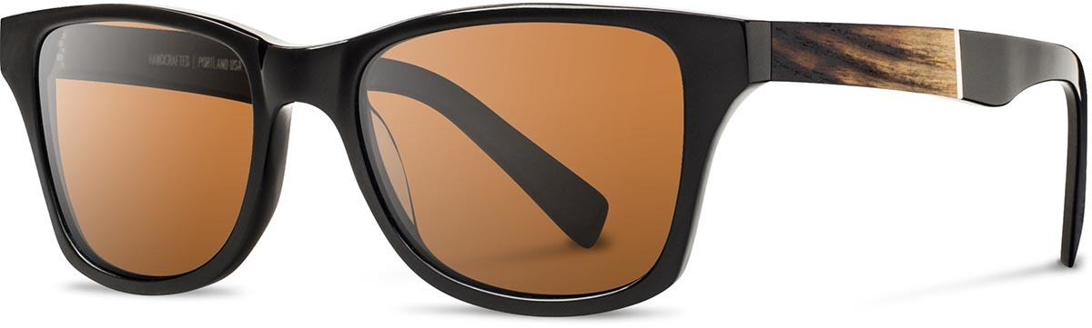 Shwood acetate wood prescription glasses canby limited slugger 2 fifty fifty black ash brown polarized left s 2200x800