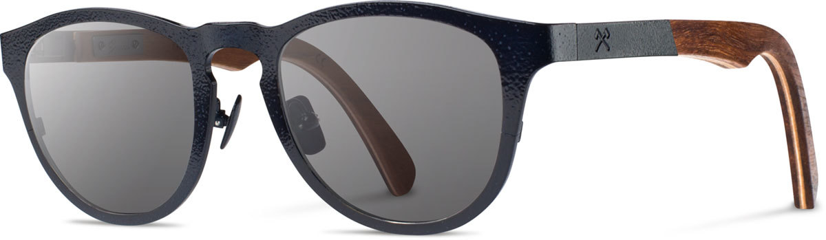 Shwood wood titanium sunglasses francis stanley hammertone navy walnut grey polarized left s 2200x800