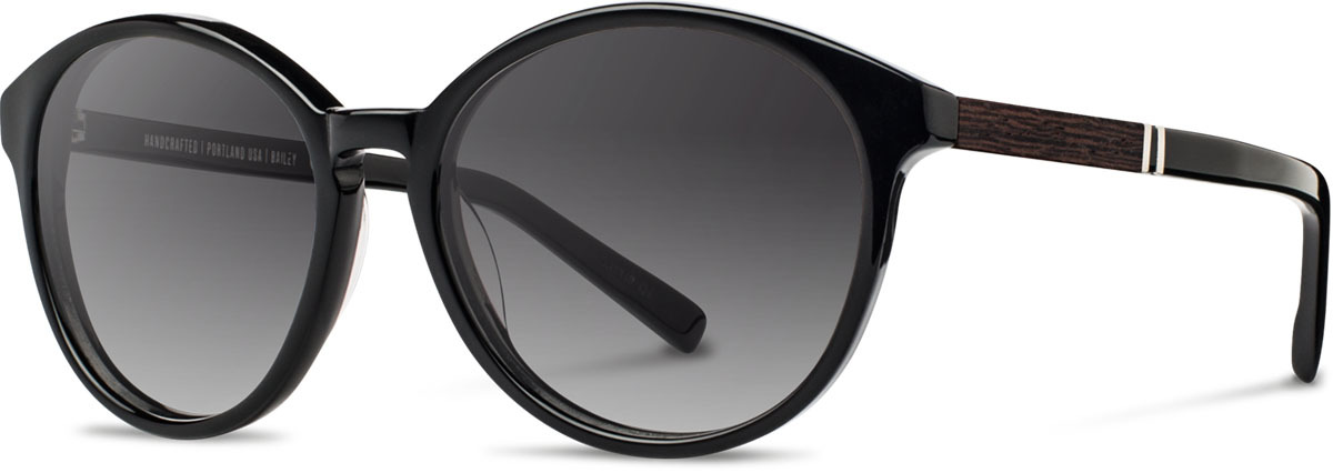Shwood acetate wood womens sunglasses fifty fifty bailey black ebony grey fade polarized left s 2200x800