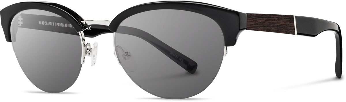 Shwood acetate wood womens sunglasses fifty fifty hayden black silver ebony grey polarized left s 2200x800