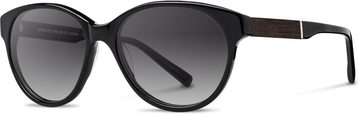 Shwood acetate wood womens sunglasses fifty fifty madison black ebony grey fade polarized left s 2200x800