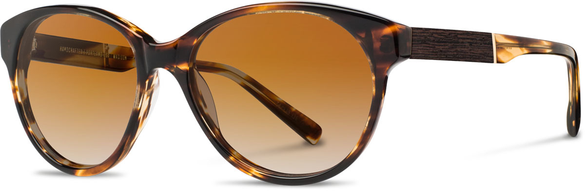 Shwood acetate wood womens sunglasses fifty fifty madison tortoise ebony brown fade polarized left s 2200x800