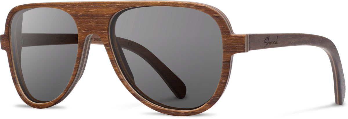 Shwood wood sunglasses medford walnut grey polarized left s 2200x800