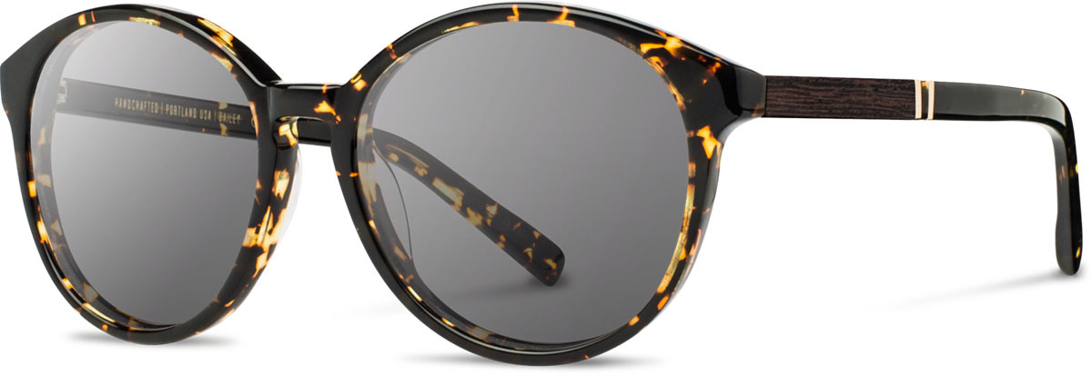 Shwood acetate wood womens sunglasses fifty fifty bailey dark speckle ebony grey left s 2200x800